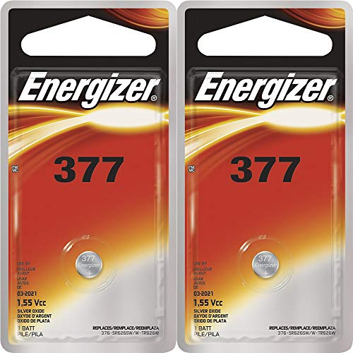 377 1.55 Volt Button Cell Watch / Calculator Eveready Energizer Battery 2-Pack