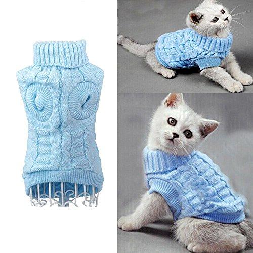 Haustier Hunde Katze Warm Pullover HundePullover Strick Pullover Wintermantel Kleidung Winter