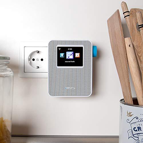 BLAUPUNKT PIB 100 WH  Blaupunkt Steckdosen Internetradio PIB 100 mit WLAN Empfang   Bluetooth Streaming  großes dimmbares Farbdisplay Wecker-Funktion und Senderspeicher Weiß