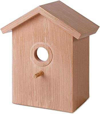 Contemporary Hanging Bird Feeder with Suction Cup Hanging Wooden Squirrel Proof Bird Feeder