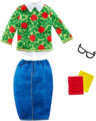 Barbie Fashions - School Cool Teacher Barbie Doll Outfit with Books &...