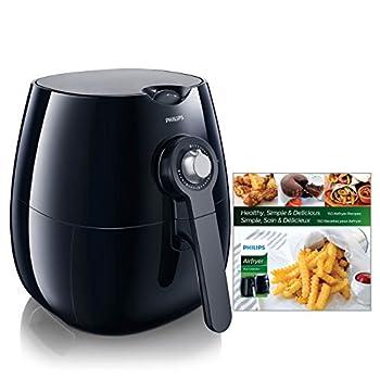 Philips Kitchen Appliances HD9220/28 Viva Airfryer  1.8lb/2.75qt  Black Fryer