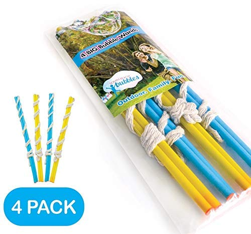 4 Big Bubble Wands: Making Giant Bubbles. Great Birthday Activity and Party Favor. Giant Bubble...