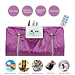 vinmax Far Infrared Sauna Blanket Heating Therapy Slim Bag SPA Weight Loss Body Detox Machine (Purple)