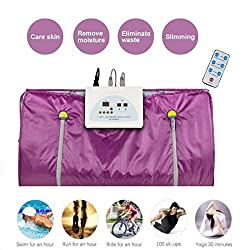 vinmax Far Infrared Sauna Blanket Heating Therapy Slim Bag SPA Weight Loss Body Detox Machine (Purple)