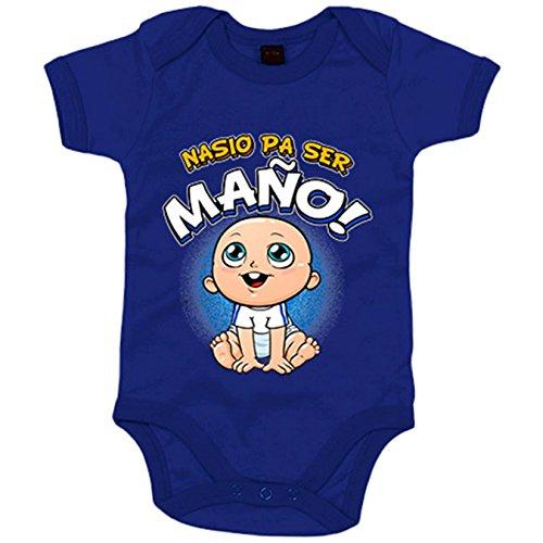 Body bebé nacido para ser Maño Zaragoza fútbol - Azul Royal, 6-12 meses