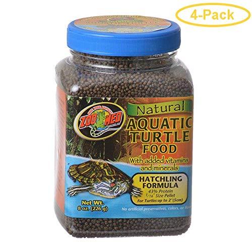 Zoo Med Natural Aquatic Turtle Food - Hatchling Formula (Pellets) 8 oz - Pack of 4