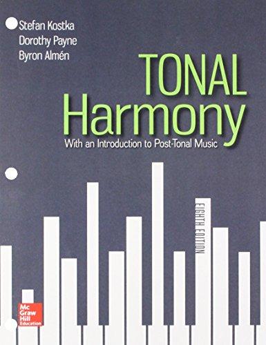 GEN COMBO LOOSELEAF TONAL HARMONY; CONNECT AC; WORKBOOK TONAL HARMONY