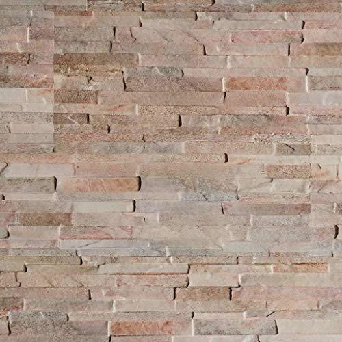 Wandverkleidung Steinoptik/Holzoptik - 3D Wandpaneele aus EPS Schaumstoff/Styropor - Kunststoff Steinpaneele (HD Printed) - Wandplatten/Wandverblender für Innen (Creme, Mischfarben)