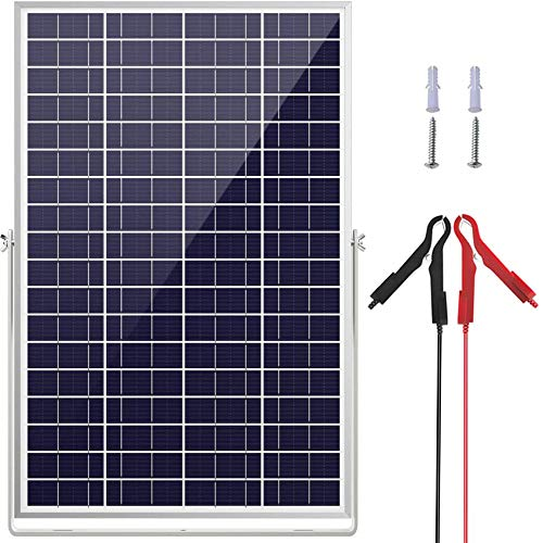 SOLPERK 30W/24V Solar Panel,Solar trickle Charger,Solar Battery Charger and Maintainer, Suitable for Automotive, Motorcycle, Boat, ATV,Marine, RV, etc. (30W/24V Solar Panel)