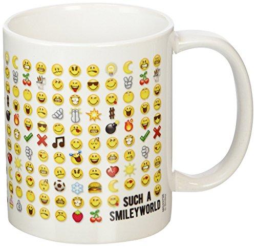 Smiley Kaffeetassen, Keramik, Mehrfarbig, 7.9x11x9.3 cm