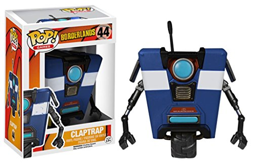 FunKo 018475 Pop Games - Figura de Vinilo, diseno de Borderlands Claptrap 44, Color Azul