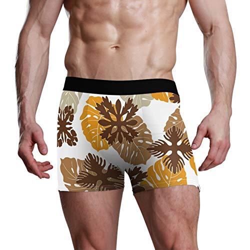 ART VVIES Ropa Interior Personalizada para Hombre Troncos de Regalo Calzoncillos bóxer Suaves elásticos Pantalones Cortos Ajustados Cómodo edredón Hawaiano - L