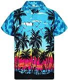 V.H.O. Funky Camisa Hawaiana, Beach, Turquesa, 3XL