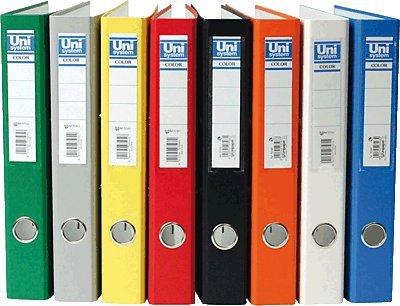 Unisystem archivador color. formato folio. lomo estrecho
