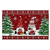 EMMETTBEN Felpudo con diseño de enanito de Navidad