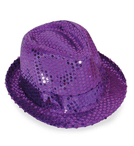 Carnaval chapeau 38585 paillettenhut mauve-taille 58 à paillettes neuf/emballage d'origine