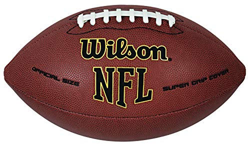 Wilson NFL Super Grip Official Football Brown, Official (Age 14+)