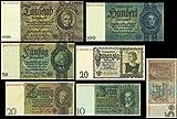 *** 5, 10, 20, 50, 100, 1000 Reichsmark, 1929 - 1945 Deutsche Reichsbank - Reproduktion ***