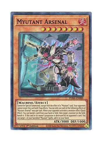 遊戯王 英語版 PHRA-EN089 Myutant Arsenal (スーパーレア) 1st Edition