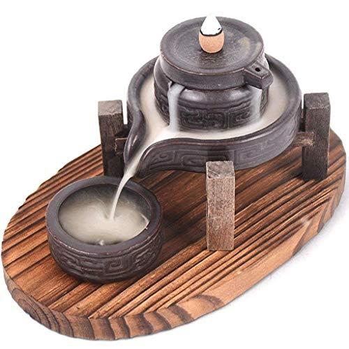 WYJBD Quemador de Incienso, cerámica Reflujo Titular Quemador de Incienso, aromaterapia Ornamento de la decoración del hogar