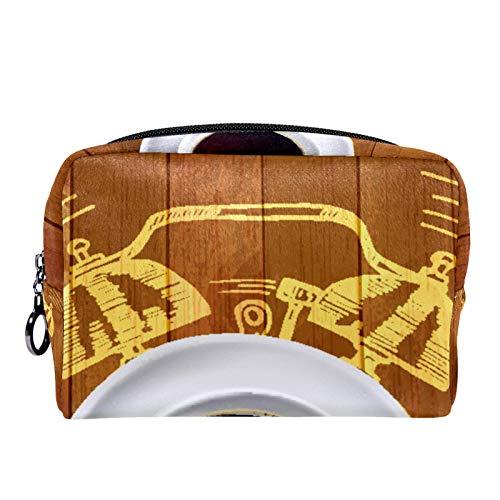 Kosmetiktasche Womens Makeup Bag Für Reisen zum Tragen von Kosmetika wechseln Sie die Schlüssel usw.,Wecker und Kaffee-Konzept