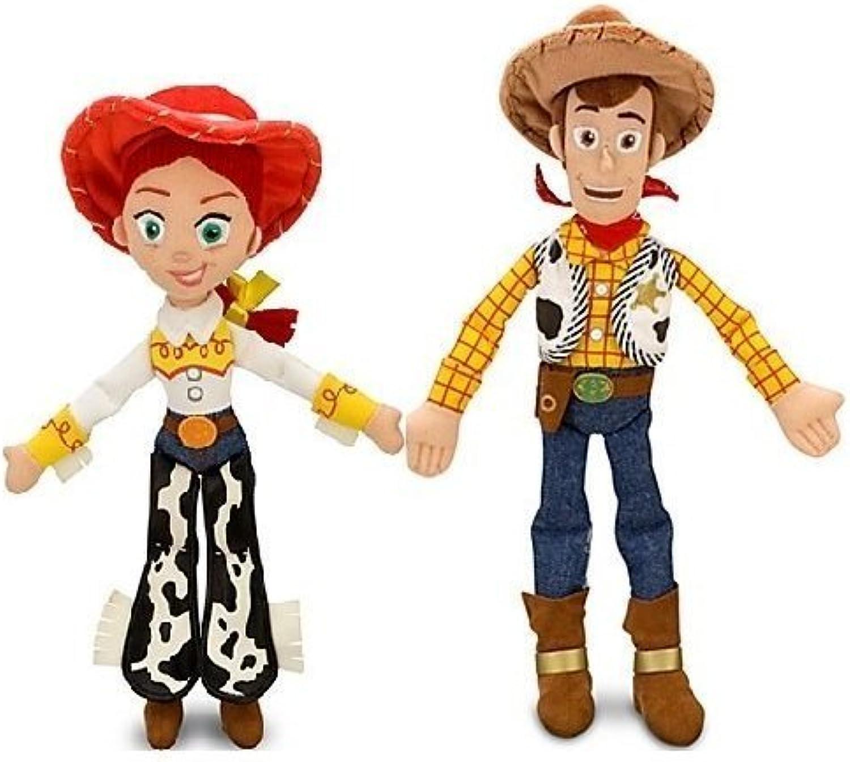 Disney Pixar Toy Story JESSIE 16  & WOODY 18  Plush Dolls  Buzz & bullseye friends