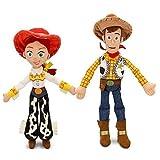 Disney Pixar Toy Story JESSIE 16' & WOODY 18' Plush Dolls - Buzz & bullseye friends