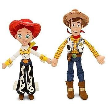 Disney Pixar Toy Story JESSIE 16  & WOODY 18  Plush Dolls - Buzz & bullseye friends