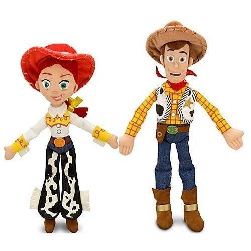 """Disney Pixar Toy Story JESSIE 16"""" & WOODY 18"""" Plush Dolls - Buzz & bullseye friends"""