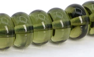 8MM MOLDAVITE GREEN RECYCLED SEA GLASS  GEMSTONE RUSTIC ROUND LOOSE BEADS 15/""