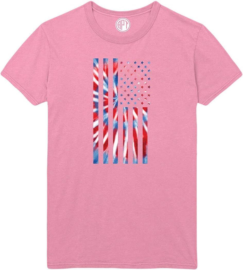 American Flag Tie Dye Printed T-Shirt