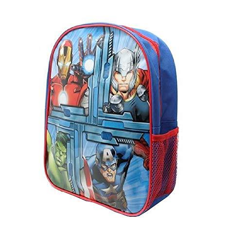 Avengers Mochila de lona ligera pequeña con bolsillo de malla