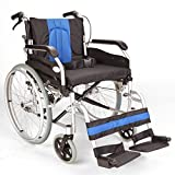 FAST FREE DELIVERY Lightweight Aluminium folding self propel Wheelchair with 20-inch extra wide