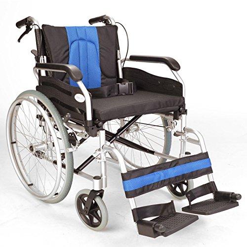 Aluminium Selbst treiben leichte Faltrollstuhl mit extra breiten Sitz und Bremsen ECSP01-20