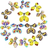 LEAMEERY Magic Fairy Flying Butterfly 15 Pieces Rubber Band Powered Butterfly Wind up Butterfly Toy for Surprise Gift or Party Playing