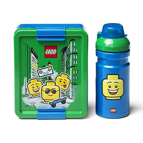 Room Copenhagen Set da Pranzo Lego Ragazzo, Blu/Verde, Taglia Unica