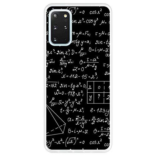 Telefoonhoesje voor [ Samsung Galaxy S20+ - S20+ 5G ] tekening [ Wiskundige berekeningen met algebra-plots, taakoplossingen ] Transparant TPU flexibele siliconen schaal