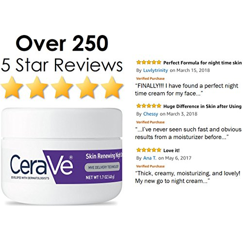 Skin Care | CeraVe Night Cream for Face | 1.7 Ounce | Skin Renewing Night Cream with Hyaluronic Acid & Niacinamide | Packaging May Vary, Gym exercise ab workouts - shap2.com