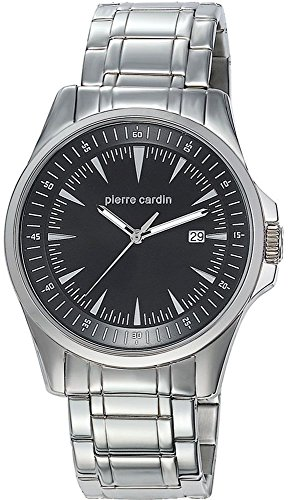 Pierre Cardin Special Collection - Reloj analógico de cuarzo para hombre, correa de acero inoxidable, color plata/negro/plata, Swiss Made