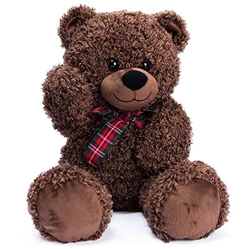 Bebamour Plush Teddy Bears Soft Plush Stuffed Animal Plush Bear Toy Gift for Boy Girl Kids, 17.7...