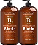 Biotin Shampoo and Conditioner Set for Hair Growth and Volume – Anti Dandruff Thickening Formula...