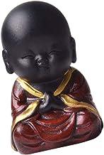 Flameer Resin Buddha Statue Monk Buddha Decor Garden Statue - A