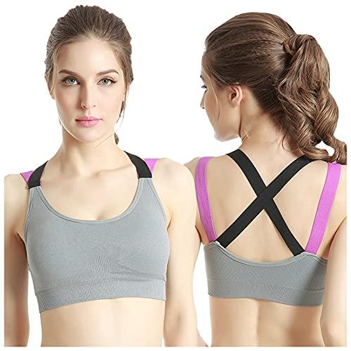 GBEN Juego de sujetador deportivo para mujer, suave y transpirable, sujetador de mujer, absorbente, sujetador de Bra Yoga Fitness Top Femenino