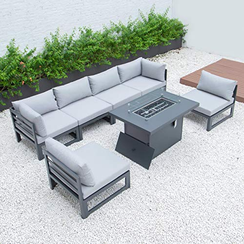 Harrier Aluminium Garden Furniture Sets - [Build Your Own] | Build or Extend Your Own Garden Furniture Sets | Patio Furniture - Garden Table and Chairs and Ottomans (Armless Sofa Unit)