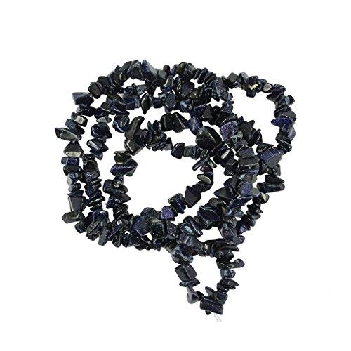 Milageto Chips de Forma Natural Variada Granos Sueltos de Piedras Preciosas Hilo de 34'para Hacer Joyas - Arena Azul, Individual