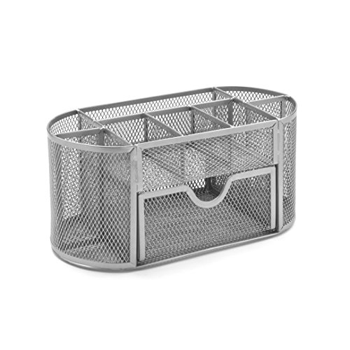Osco Wiremesh Organiser with Drawer - Silver