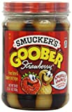 Smucker's Goober Strawberry Jelly & Peanut Butter Stripes, 18 Ounces (Pack of 6)