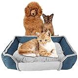 Cama para Perro Mascota - Paño Suave Alfombrillas para Cama para Perro Mascota Perros Desmontables Cojín para Dormir Nido
