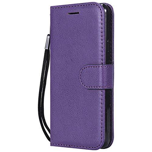 DENDICO Cover Galaxy A3 2016, Premium Portafoglio PU Custodia in Pelle, Flip Libro TPU Bumper Caso per Samsung Galaxy A3 2016 - Viola